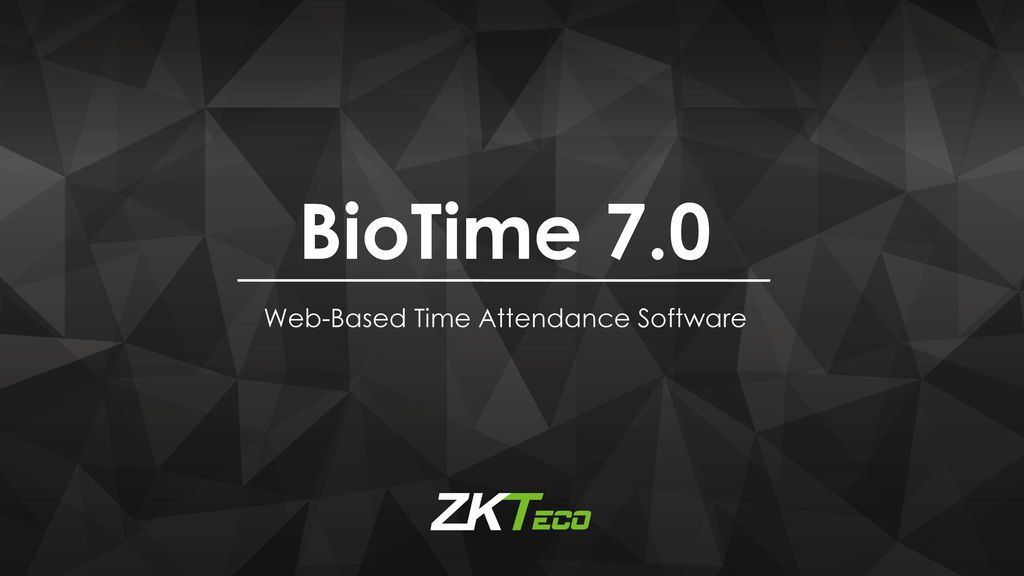 BioTime 7 0 Web-Based Time Attendance Software
