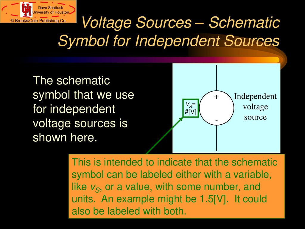 Ece 1100 introduction to electrical and computer engineering ppt 9 voltage sources schematic symbol biocorpaavc Images