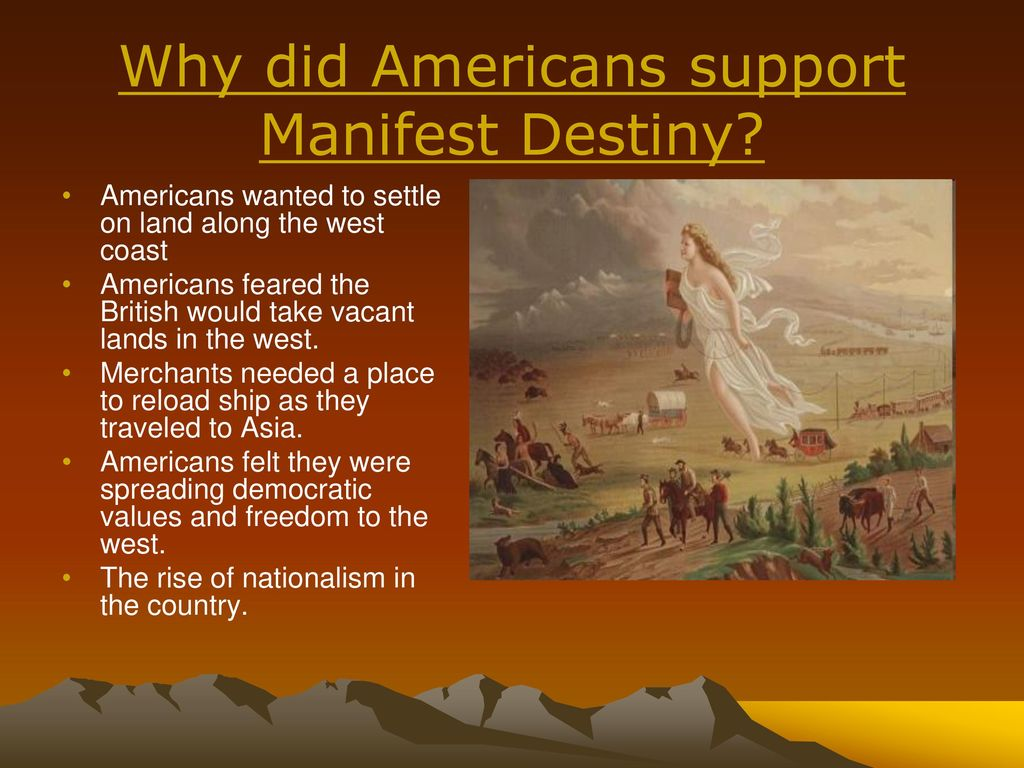 how did manifest destiny manifest itself Outside the united states, the effects of manifest destiny were being seen in us  intervention in the spanish-american war when spain ceded the philippine.