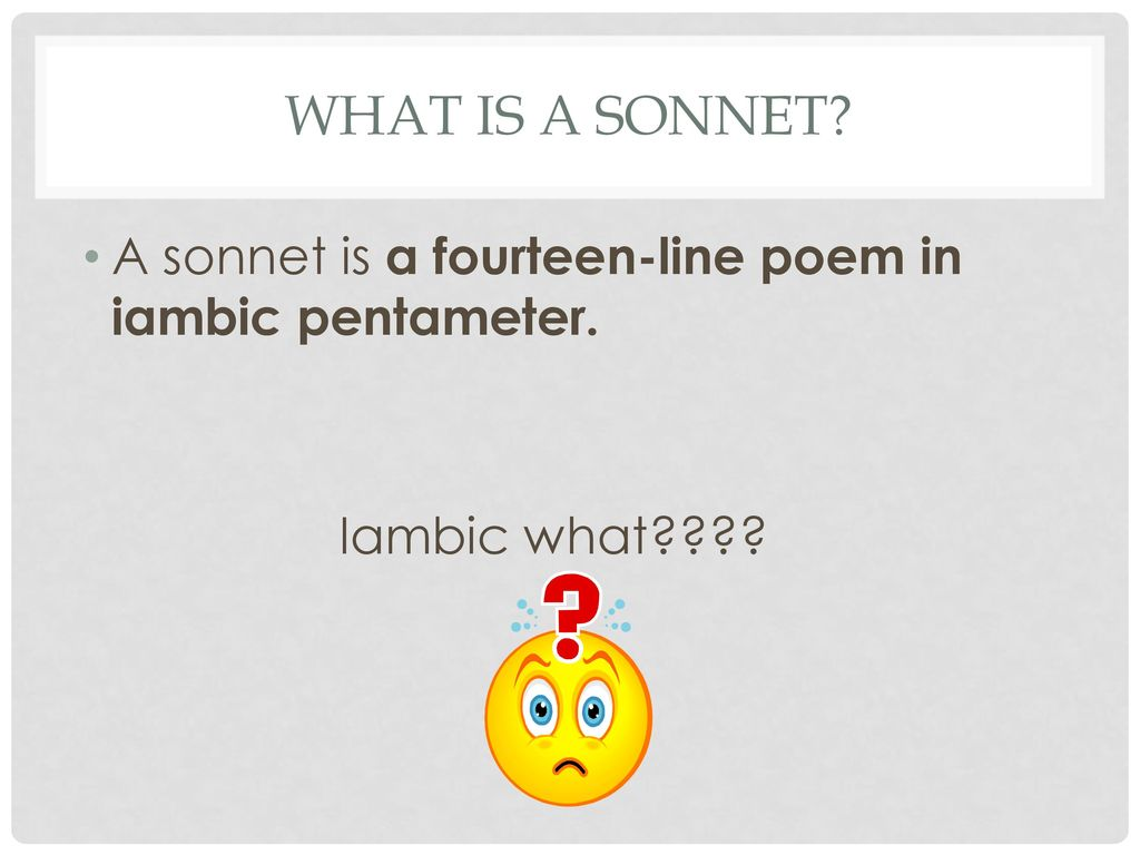 Writing a sonnet Honors ppt