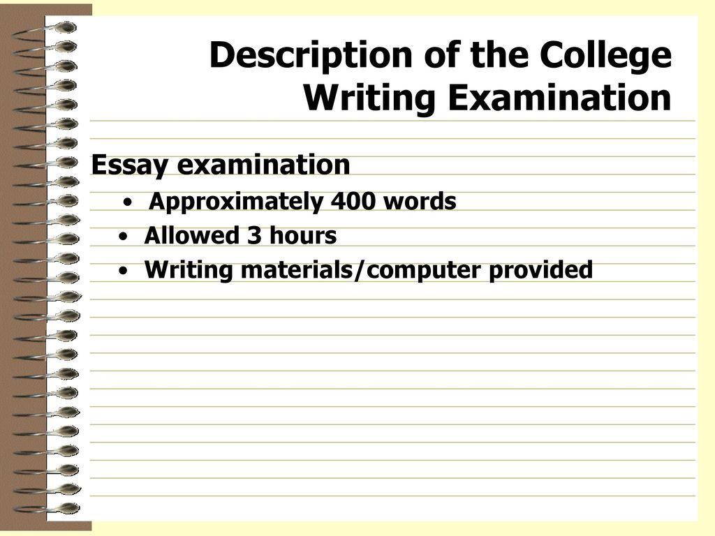 essay writing for examinations Standardized testing essay the term standardized testing is variously understood for instance, some equate standardized testing as the delimiter to college entrance.