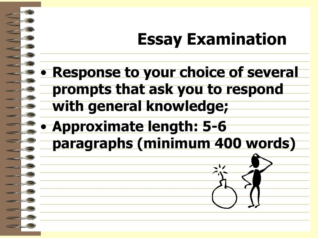 an essay on examination The specialised paper, which is different for each examination, tests substantive knowledge of the subject relevant to the job network you have applied for.