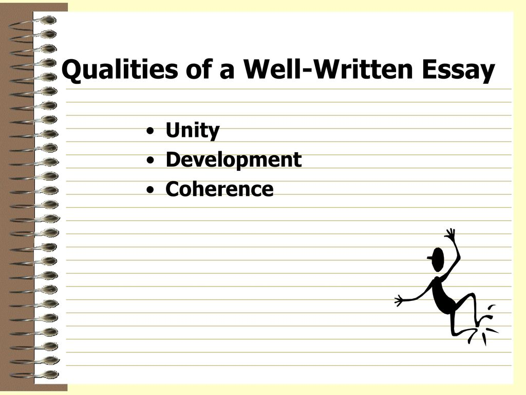 Qualities of a well written essay