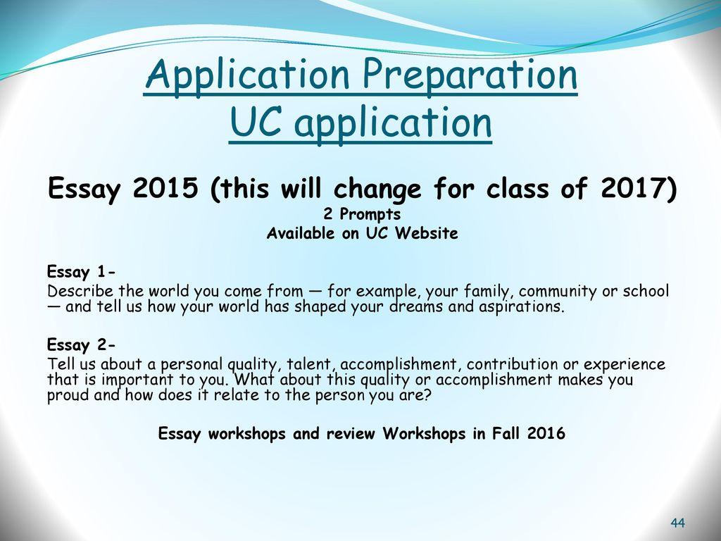 uc application essay 2015