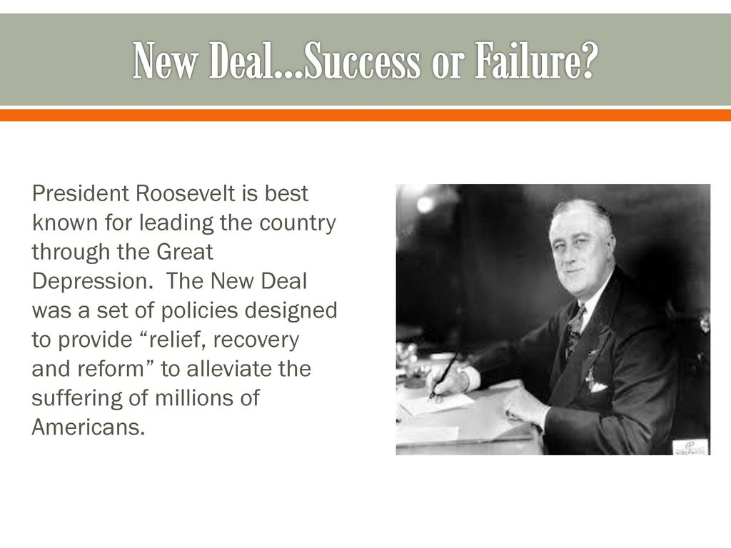 successes and failures of roosevelts new deal essay Essay success of the first new deal katie vinogradova 07/03/2015 how successful was the first new deal in promoting economic recovery (24 marks) the administration of franklin d roosevelt came into office in march 1933, straight after one of the worst economic crises in american history, and the way this crisis was handled included a vast variety of aggressive and often controversial measures.