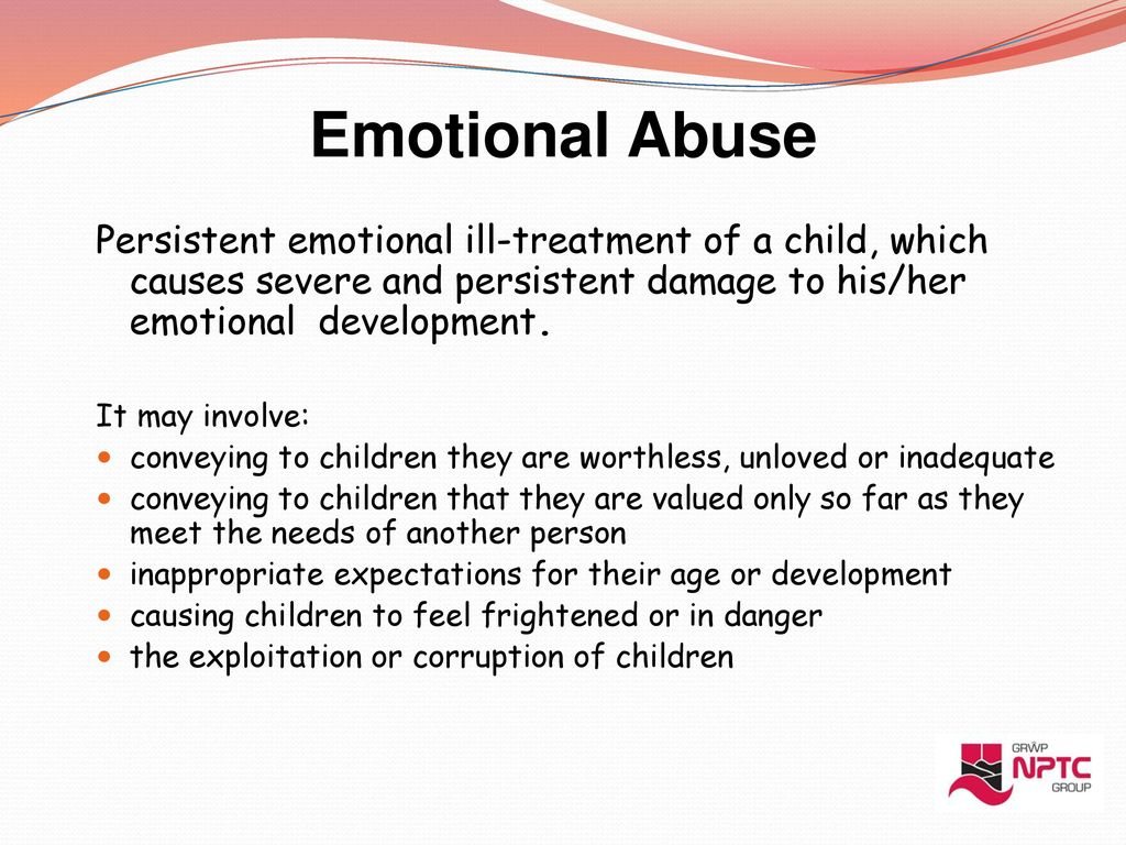 abuse and child development The main effect of verbal abuse on children is delayed development you may see a slowdown in the physical, social, emotional, and academic development in your children your children may face problem with making friends , may fall behind in school career, etc.