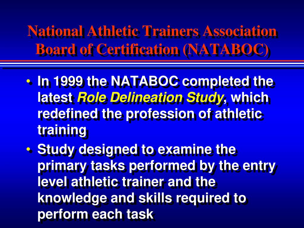 Chapter 1 the sports medicine team ppt download national athletic trainers association board of certification nataboc 1betcityfo Choice Image