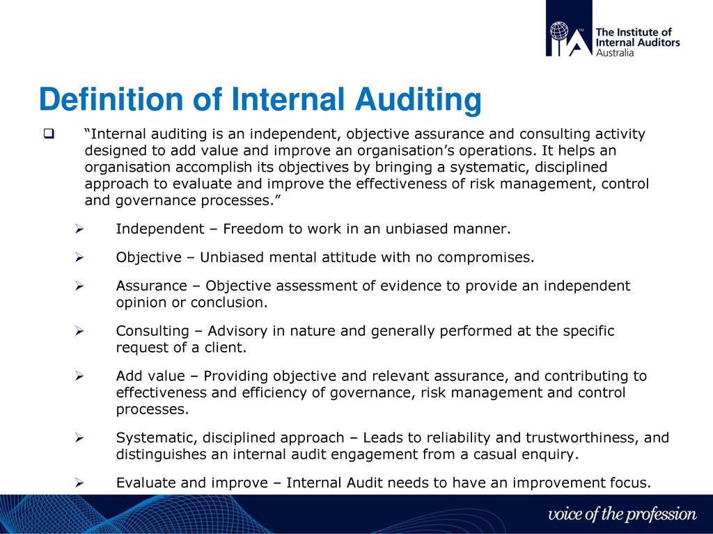 How does internal auditing maintain its