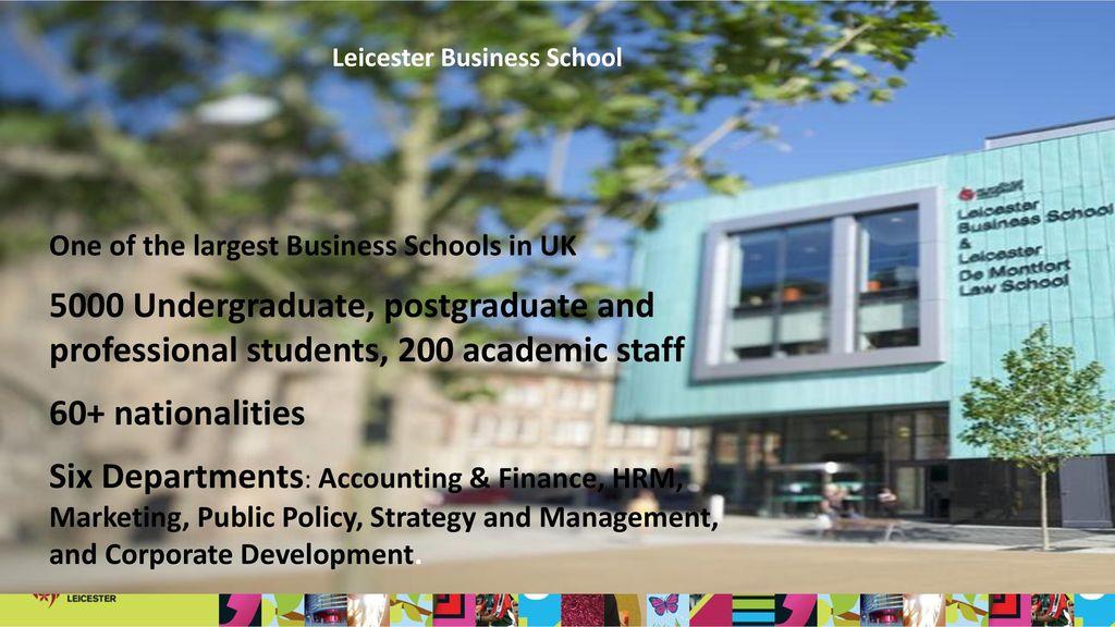 Management Studies (Finance) - University of Leicester ...