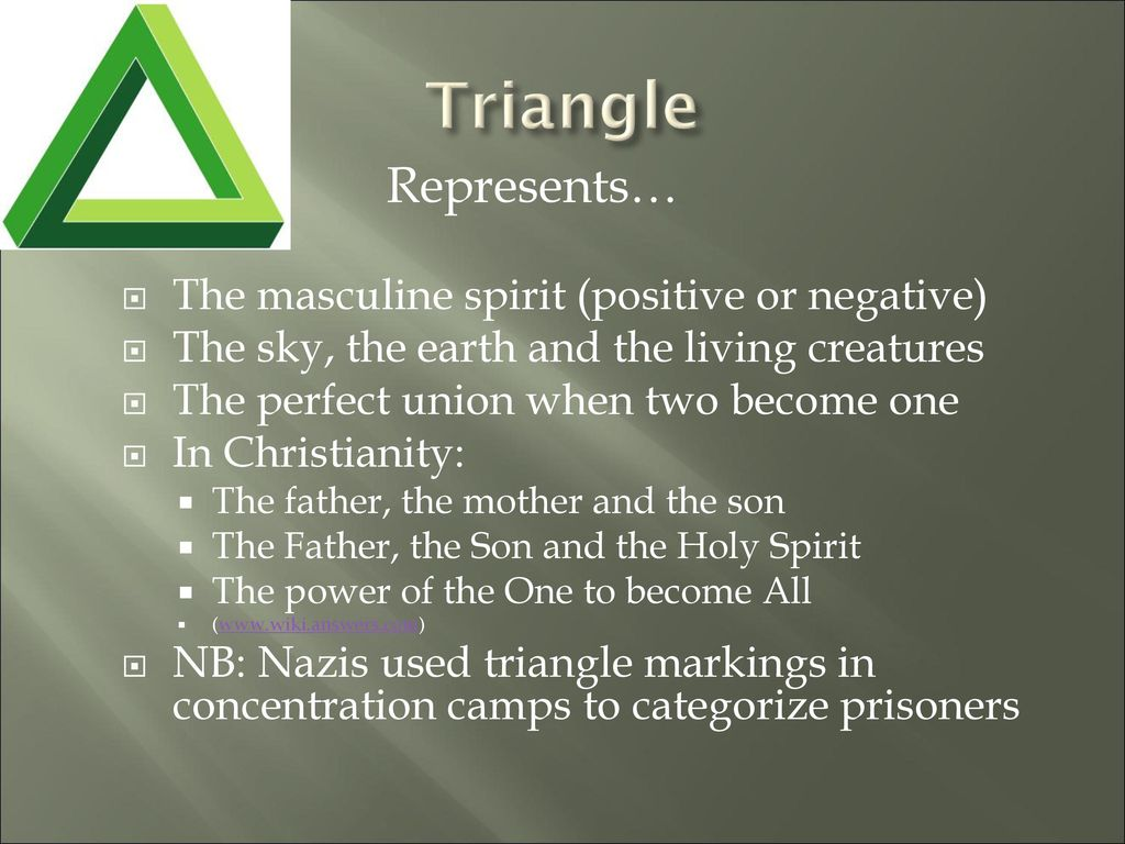 Symbolism in literature ppt download triangle represents the masculine spirit positive or negative buycottarizona Image collections