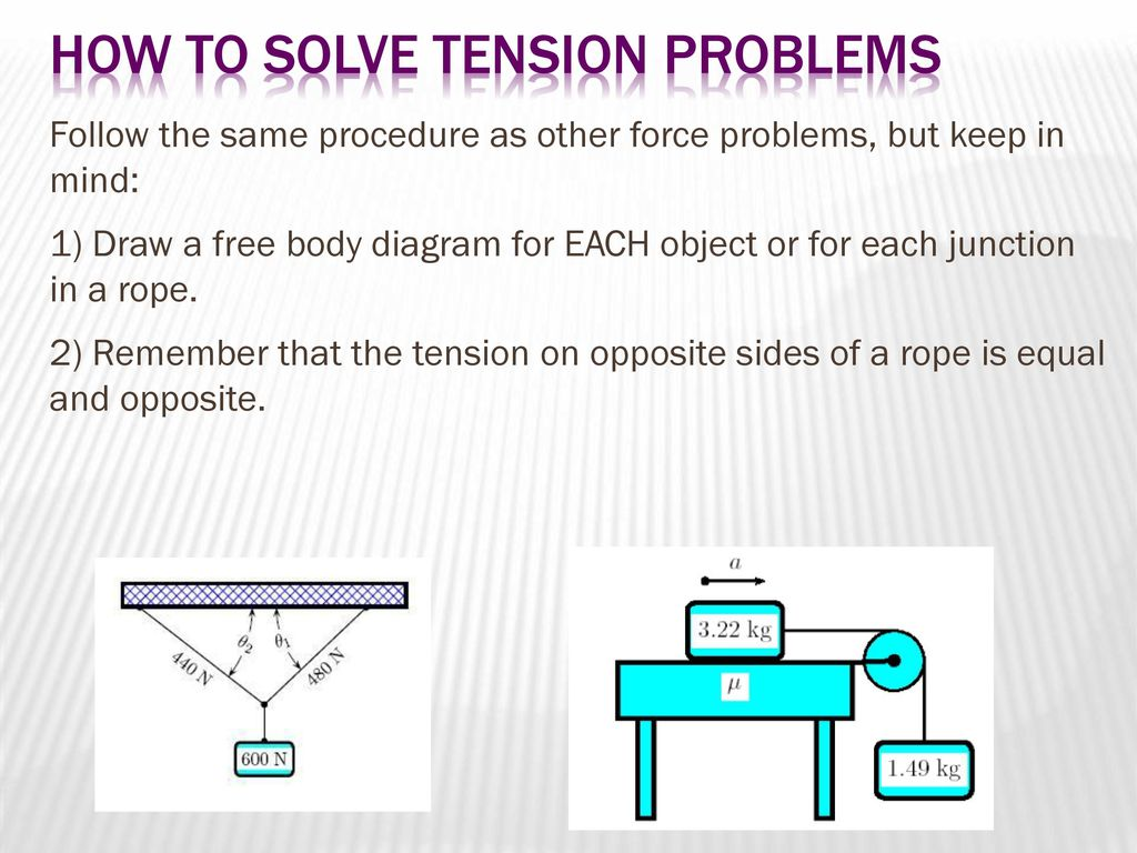 Tension problems ppt download how to solve tension problems ccuart Choice Image
