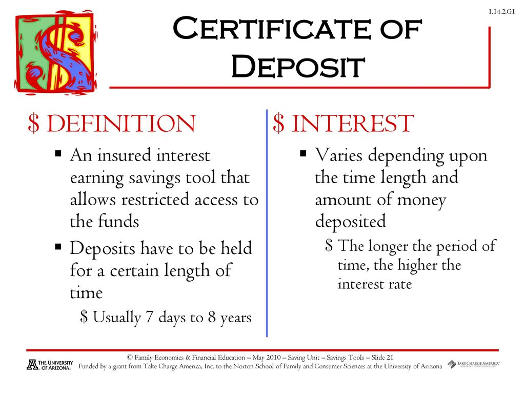 Savings investing ppt download certificate of deposit 1betcityfo Gallery
