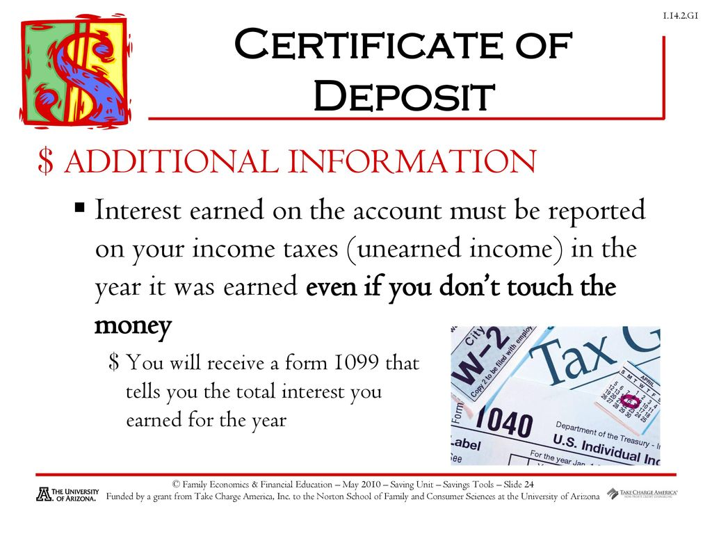 Savings investing ppt download 24 certificate of deposit xflitez Image collections