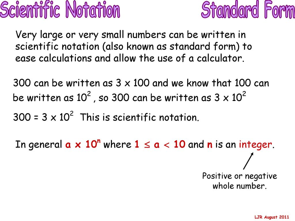 Standard form small numbers gallery standard form examples curriculum for excellence ppt download positive or negative whole number 58 scientific notation standard form falaconquin falaconquin