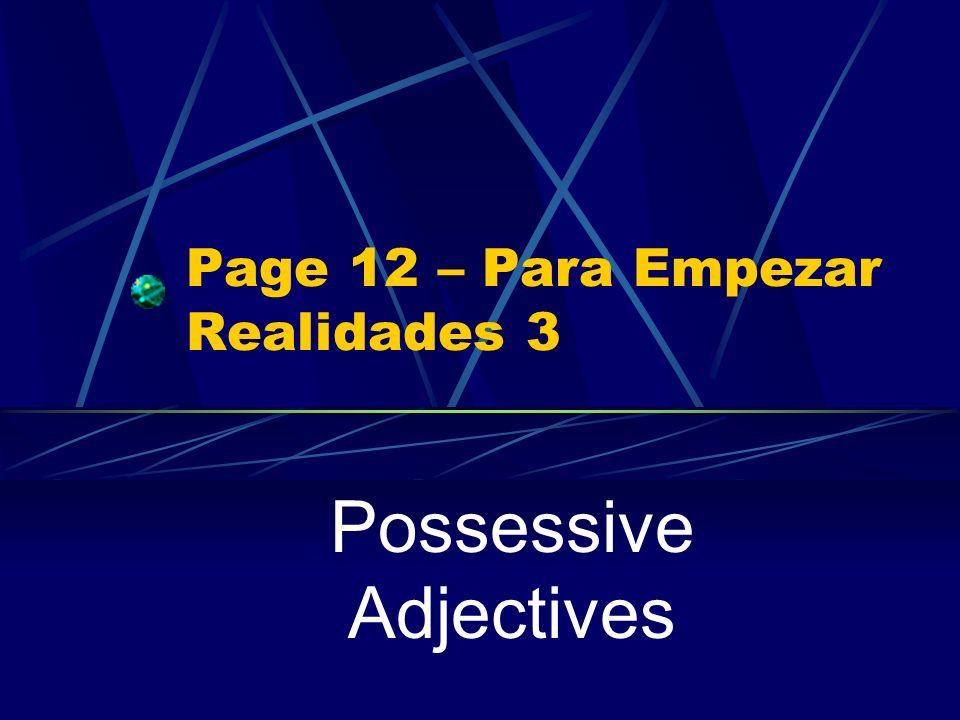 Page 12 – Para Empezar Realidades 3