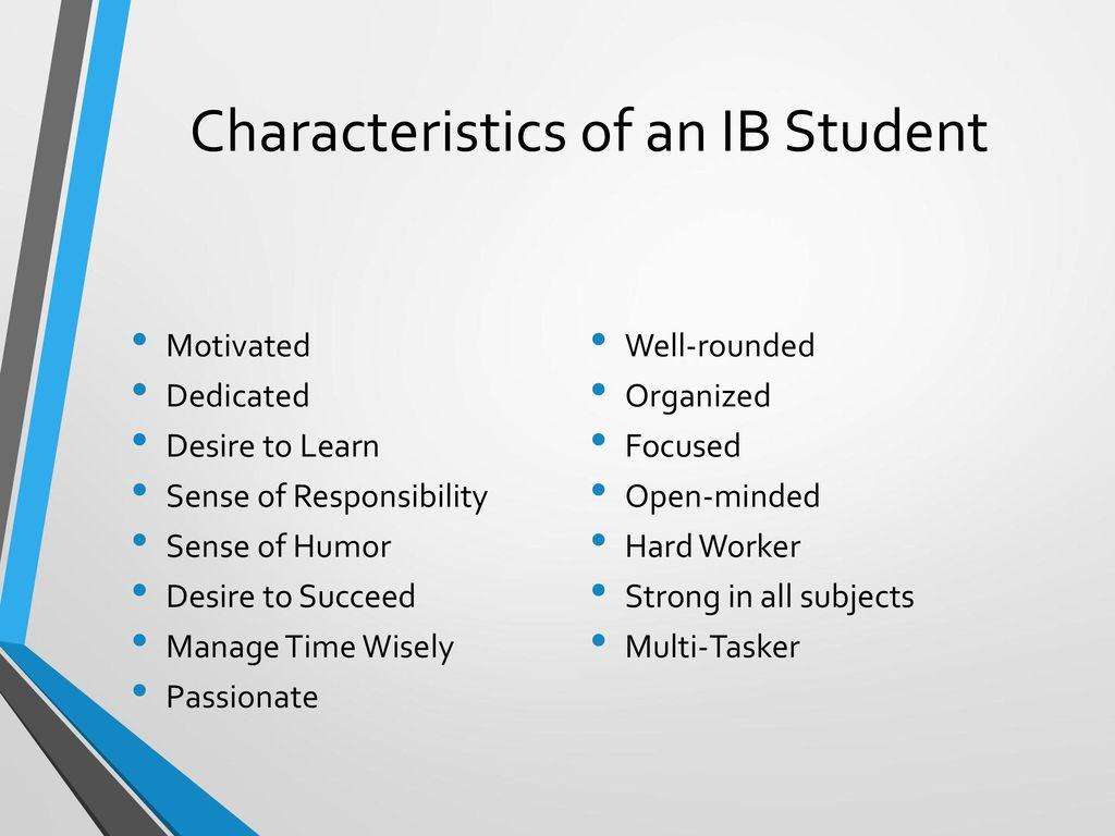 Characteristics of an IB Student