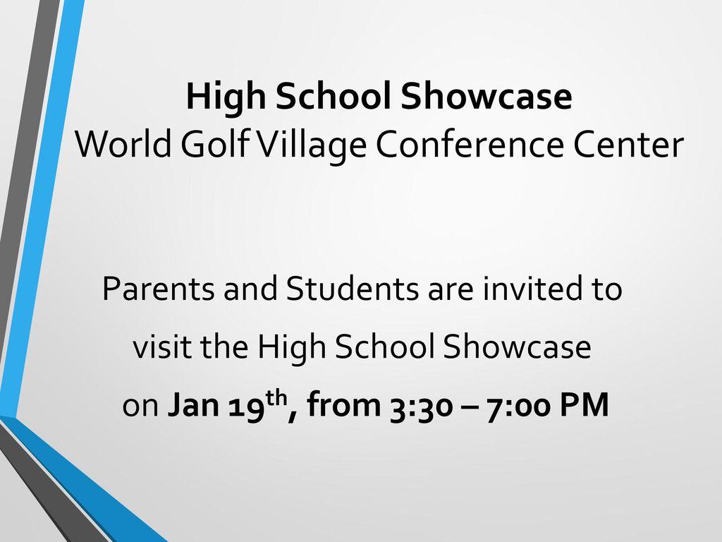 High School Showcase World Golf Village Conference Center