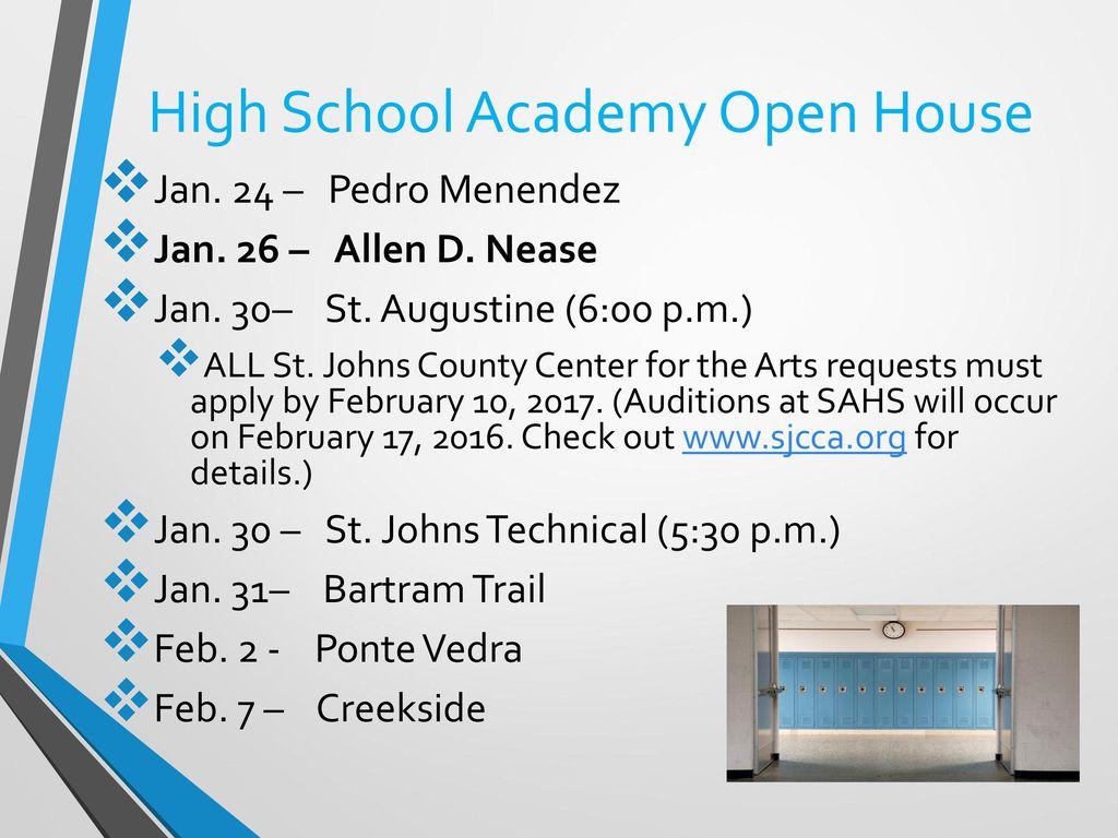 High School Academy Open House