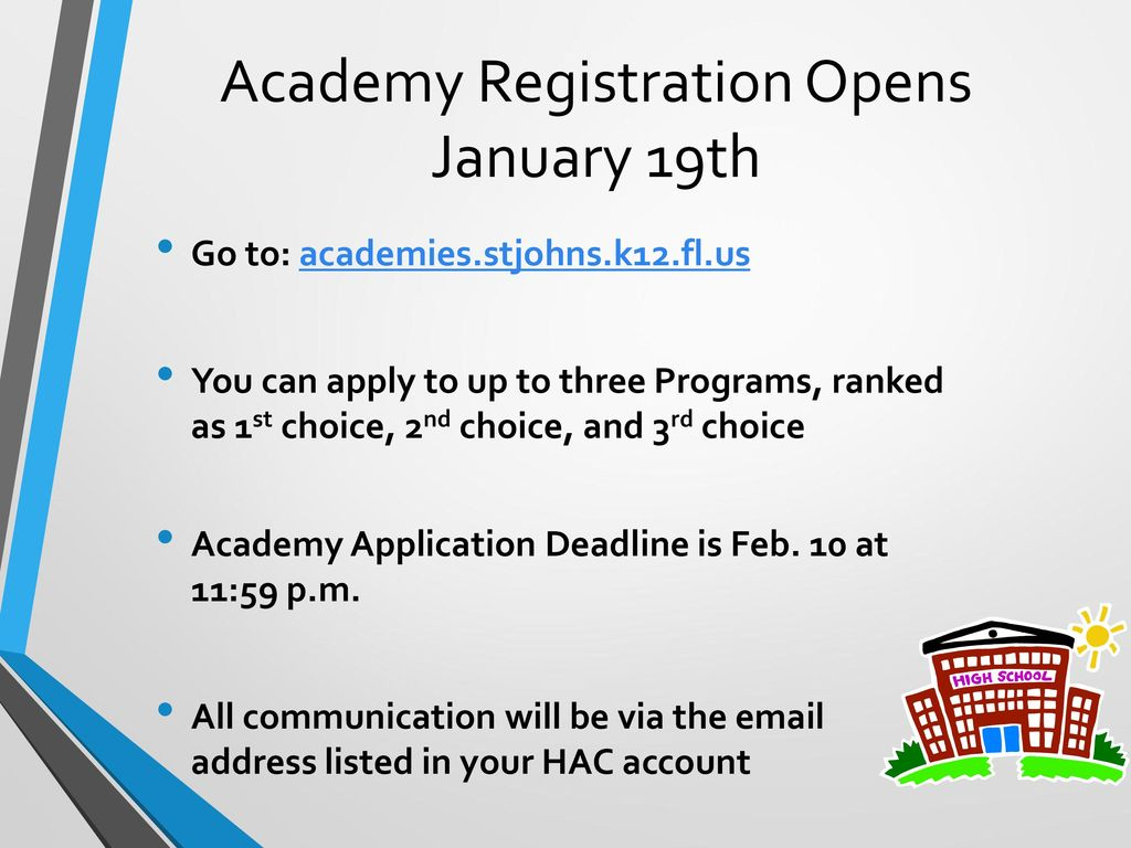 Academy Registration Opens January 19th