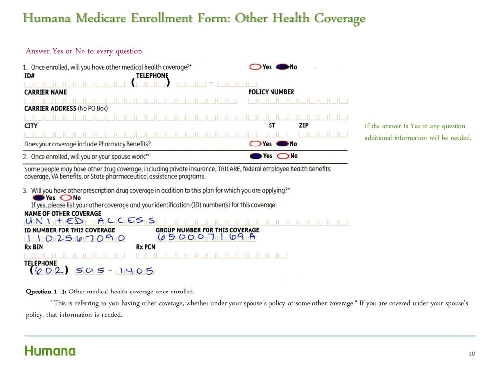 Humana Health Insurance Quotes How To Complete A Paper Application  Ppt Download
