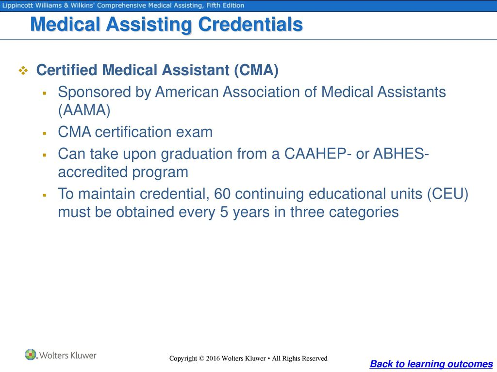Medicine and medical assisting ppt download 67 medical assisting credentials certified 1betcityfo Image collections