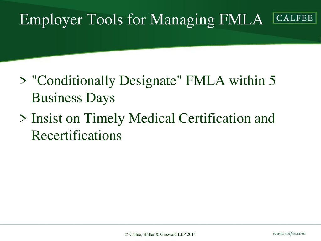 Best practices in fmla ada management ppt download employer tools for managing fmla xflitez Image collections