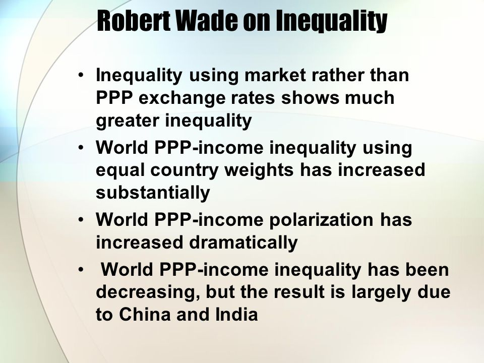 Robert Wade on Inequality