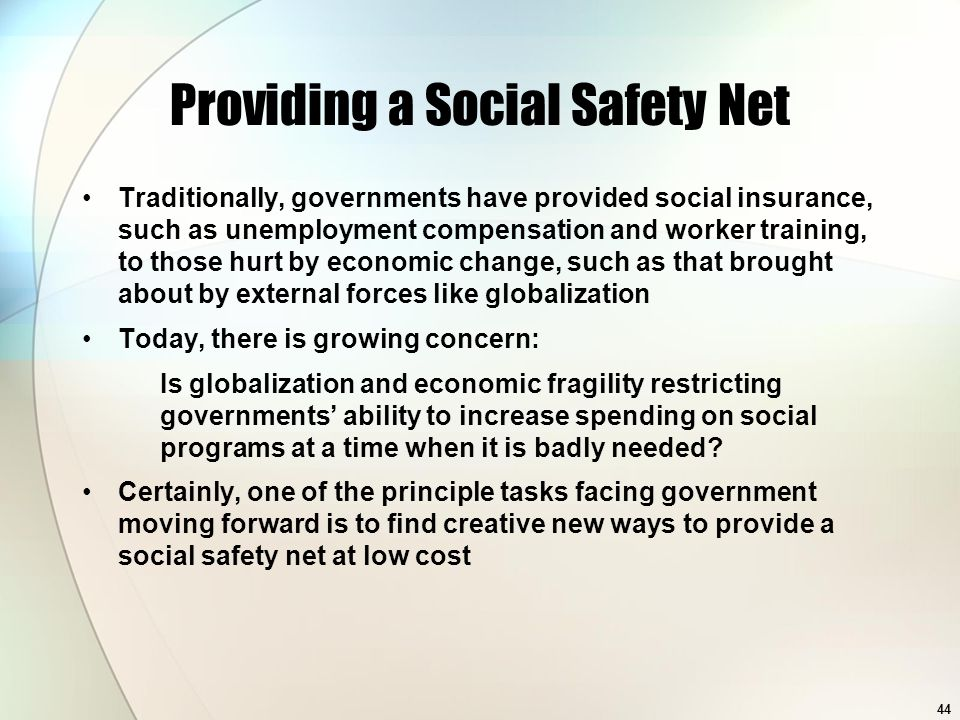 Providing a Social Safety Net