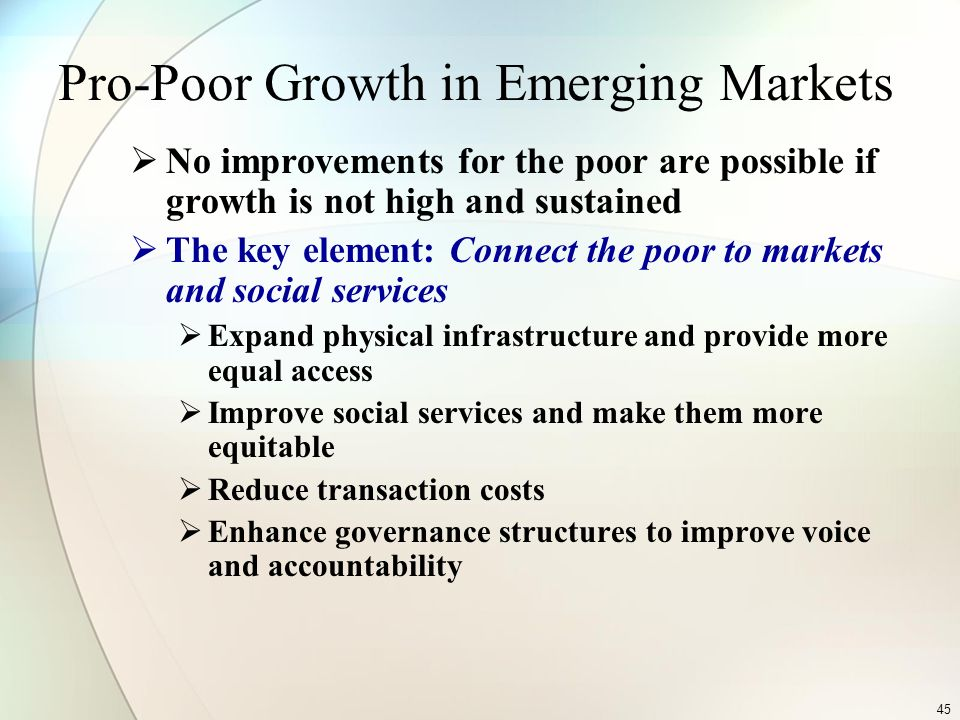 Pro-Poor Growth in Emerging Markets