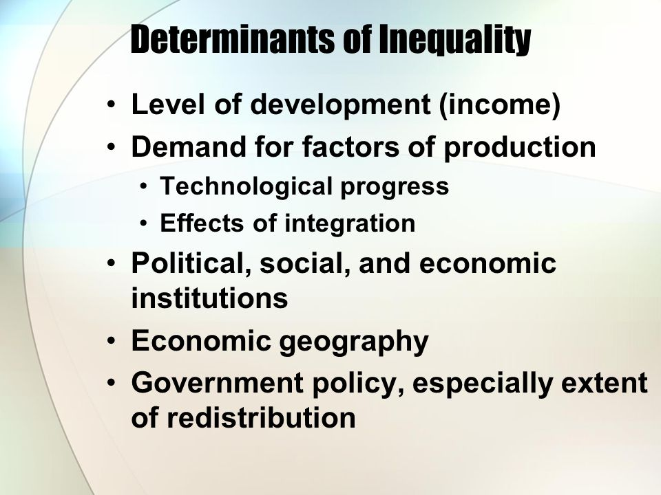 Determinants of Inequality