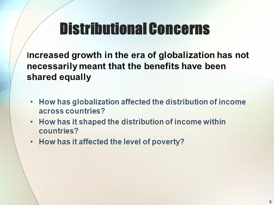 Distributional Concerns
