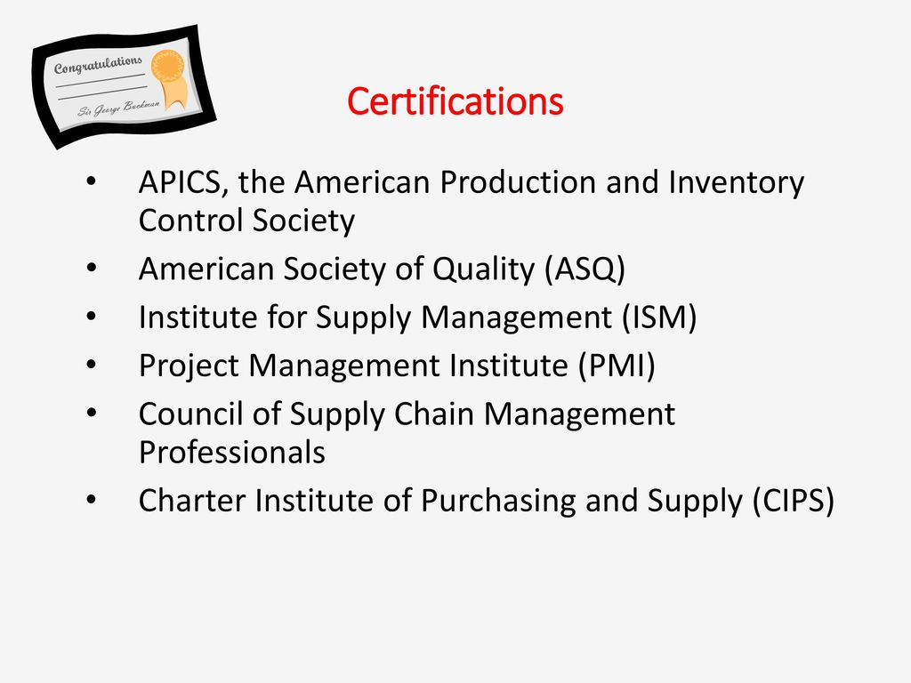 Operations management introduction to om ppt download 10 certifications apics xflitez Choice Image