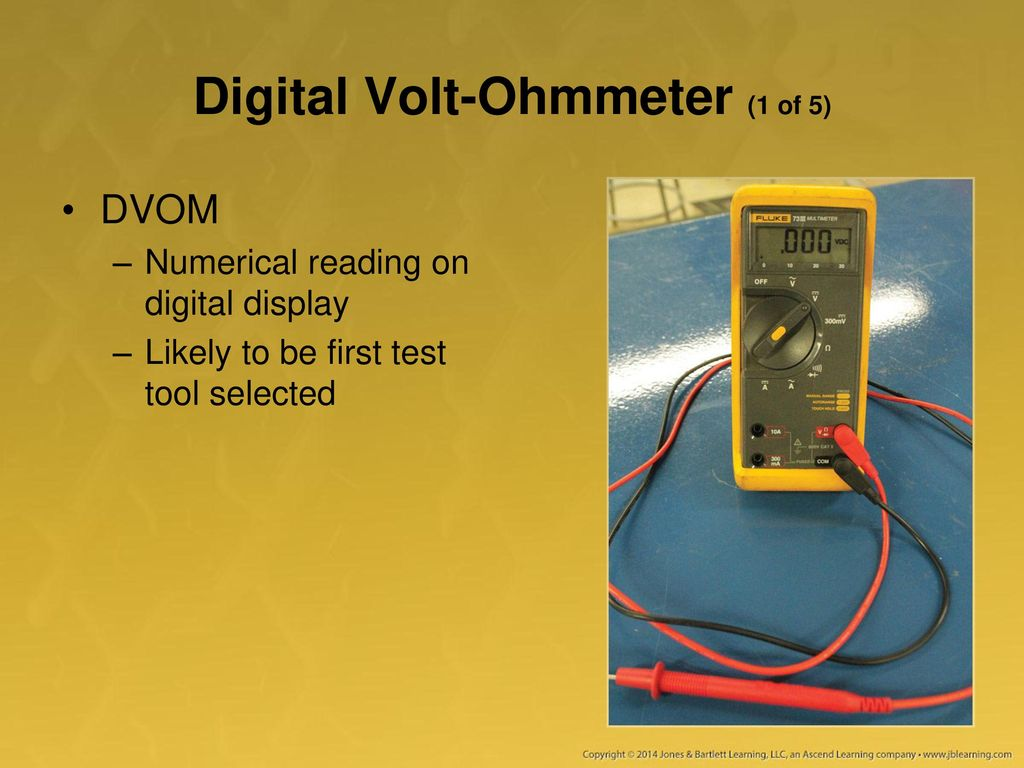 Reading An Ohmmeter : Using a multimeter test light and other equipment