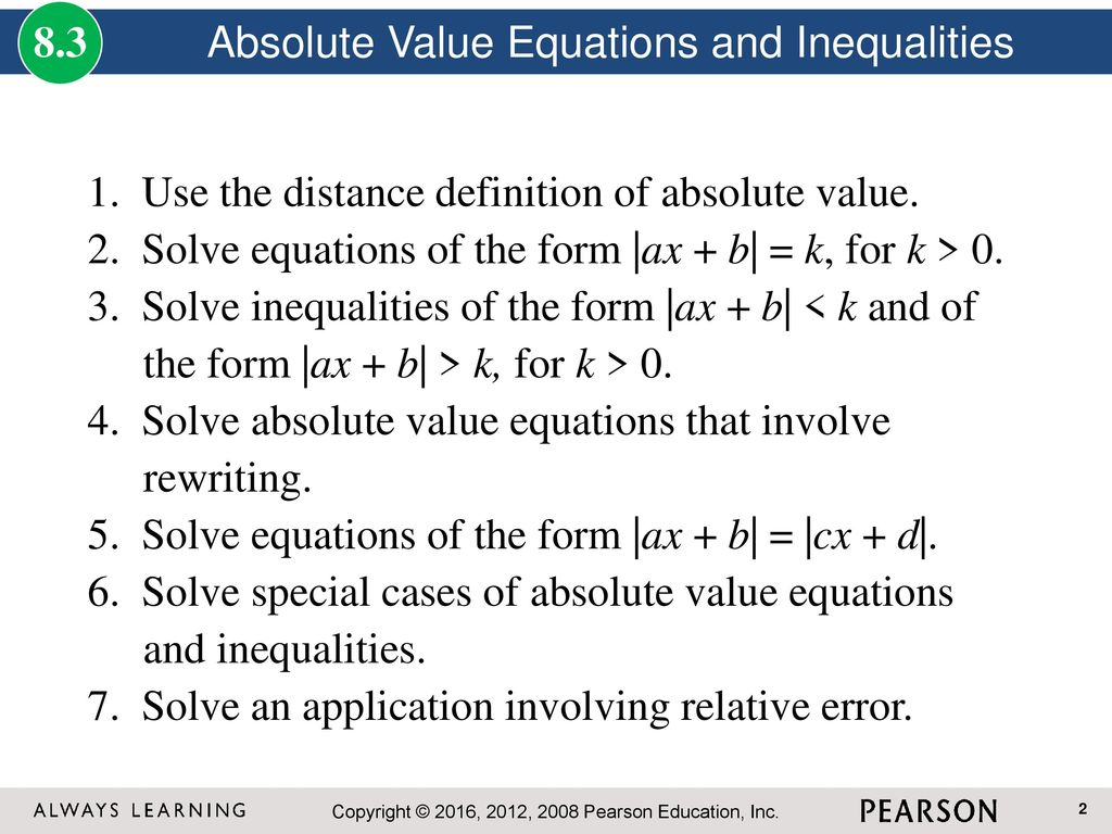 Inequalities and absolute value ppt download absolute value equations and inequalities falaconquin