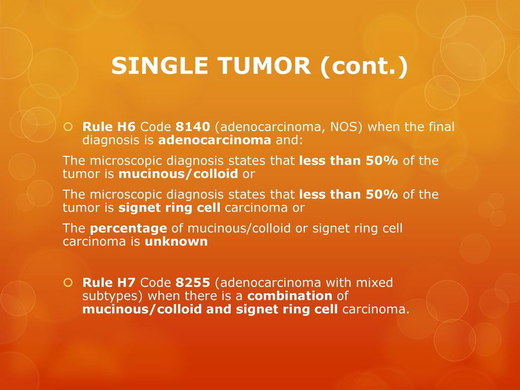 Signet Ring Cell Carcinoma Icd  Code