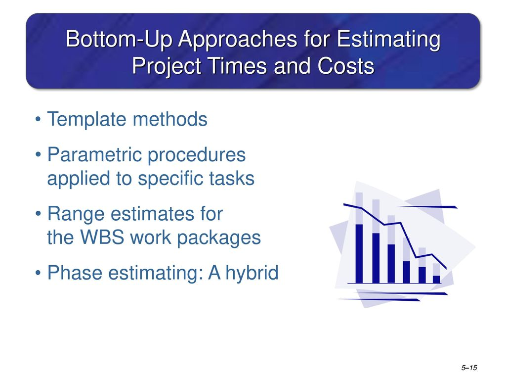 estimating project time and costs Level of information available at the time the estimate is prepared project cost estimates are based on identifying, quantifying and estimating the cost of consuming all the resources (eg people, machines, materials, services, property) required to.