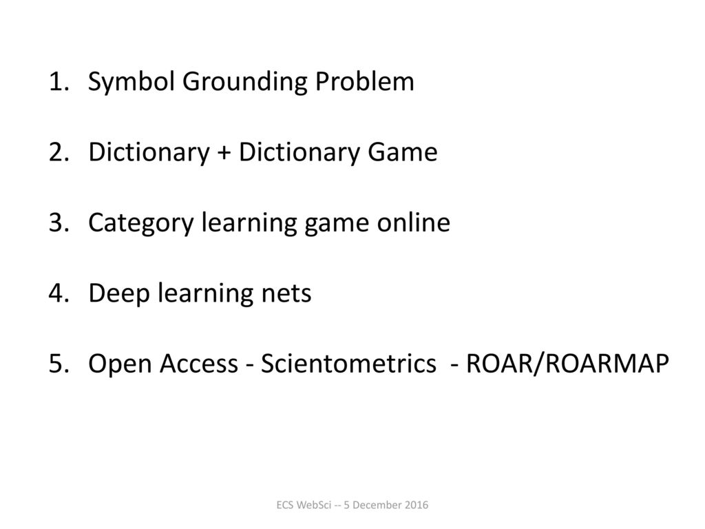 Web science and the mind ppt download 2 symbol grounding problem dictionary buycottarizona Choice Image