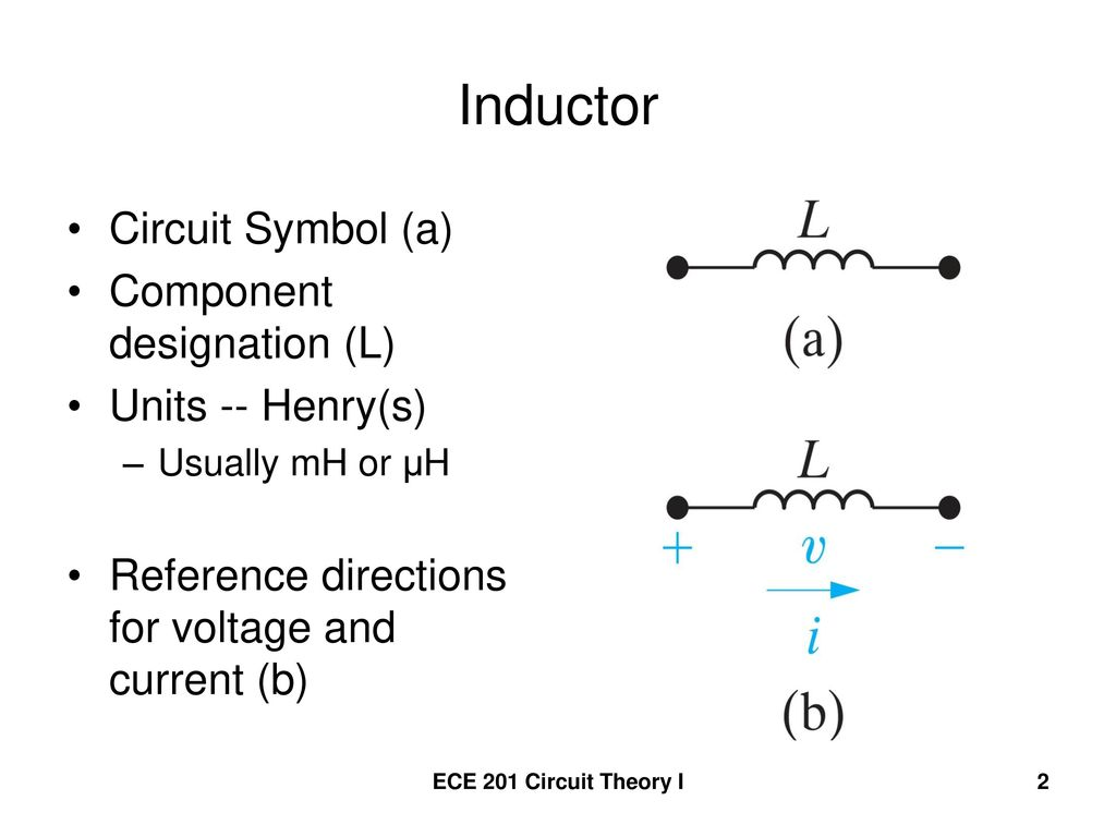 Inductance Inductor A coil of wire wrapped around a supporting core ...