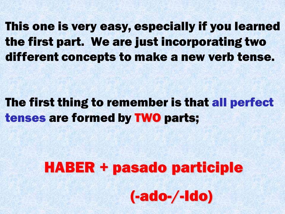 HABER + pasado participle