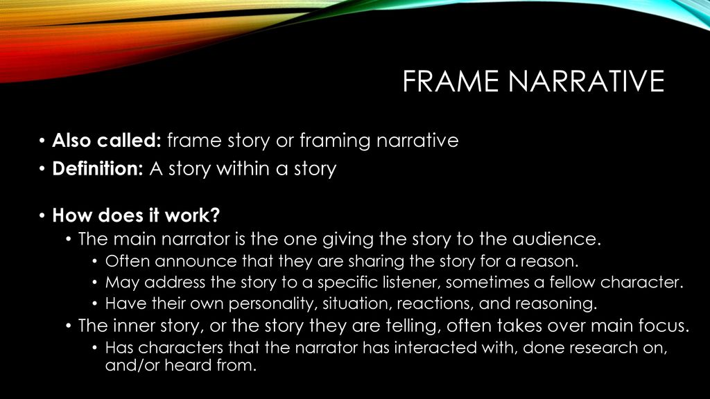 Amazing Frame Story Definition Component - Ideas de Marcos ...