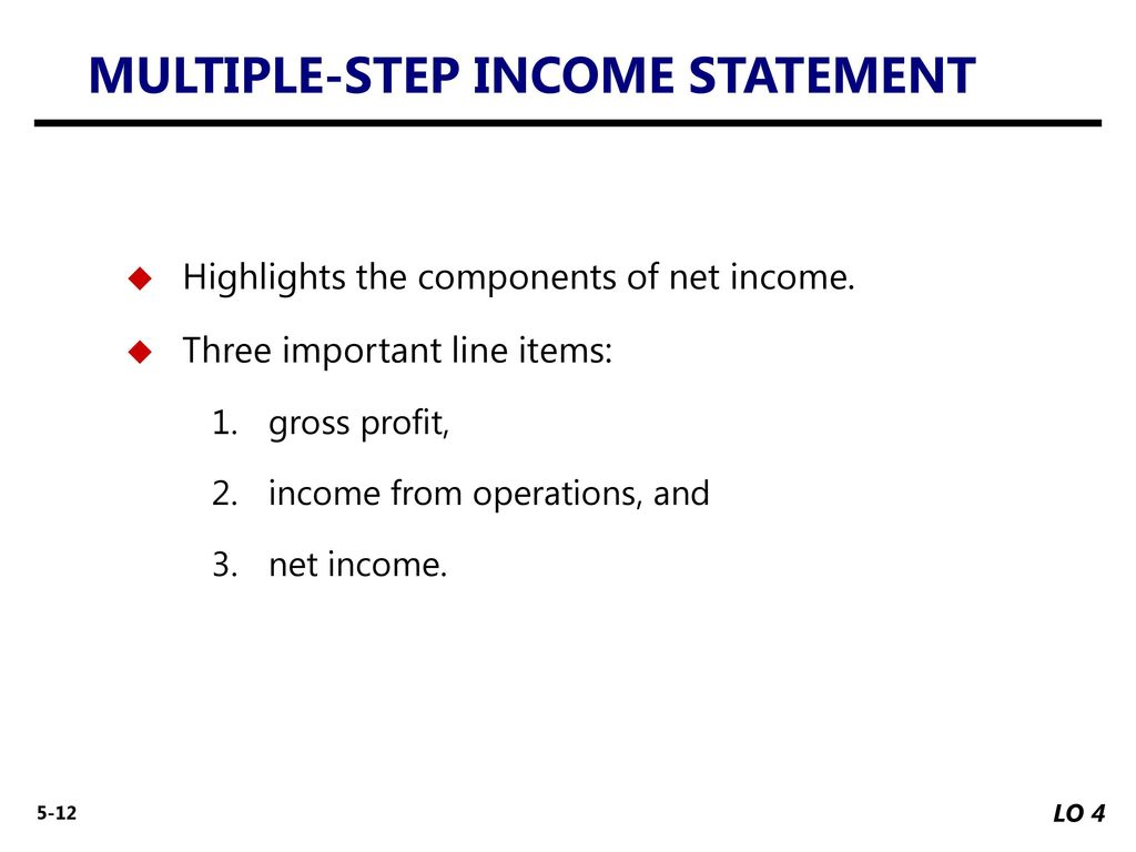 how to find gross profit from income from operations