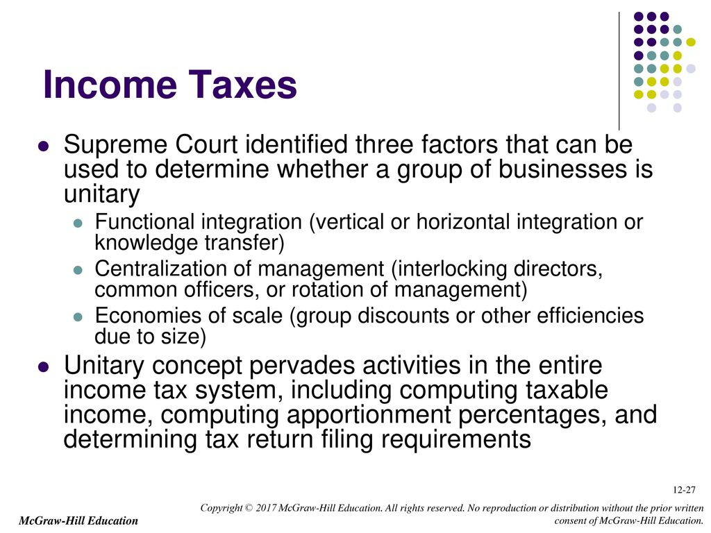 Chapter 12 state and local taxes ppt download income taxes supreme court identified three factors that can be used to determine whether a group sciox Choice Image