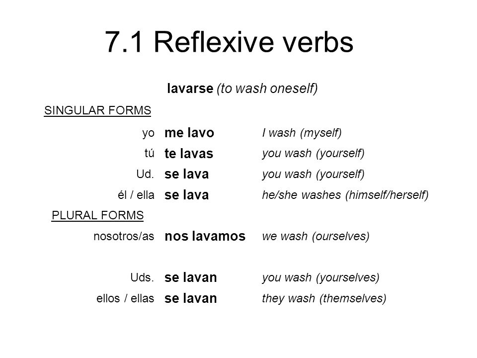 lavarse (to wash oneself)
