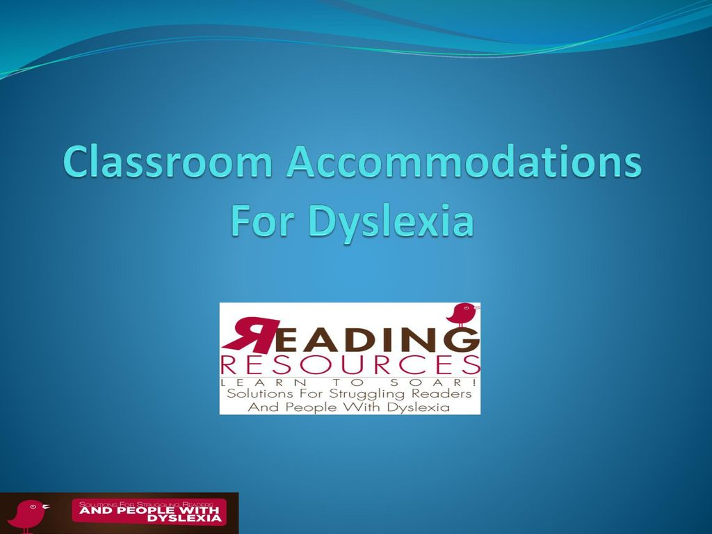 classroom accommodations for dyslexia - ppt download, Powerpoint templates