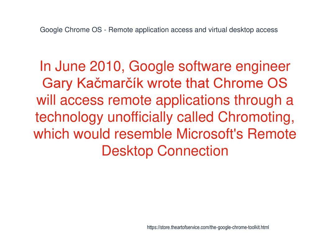 applications google chrome