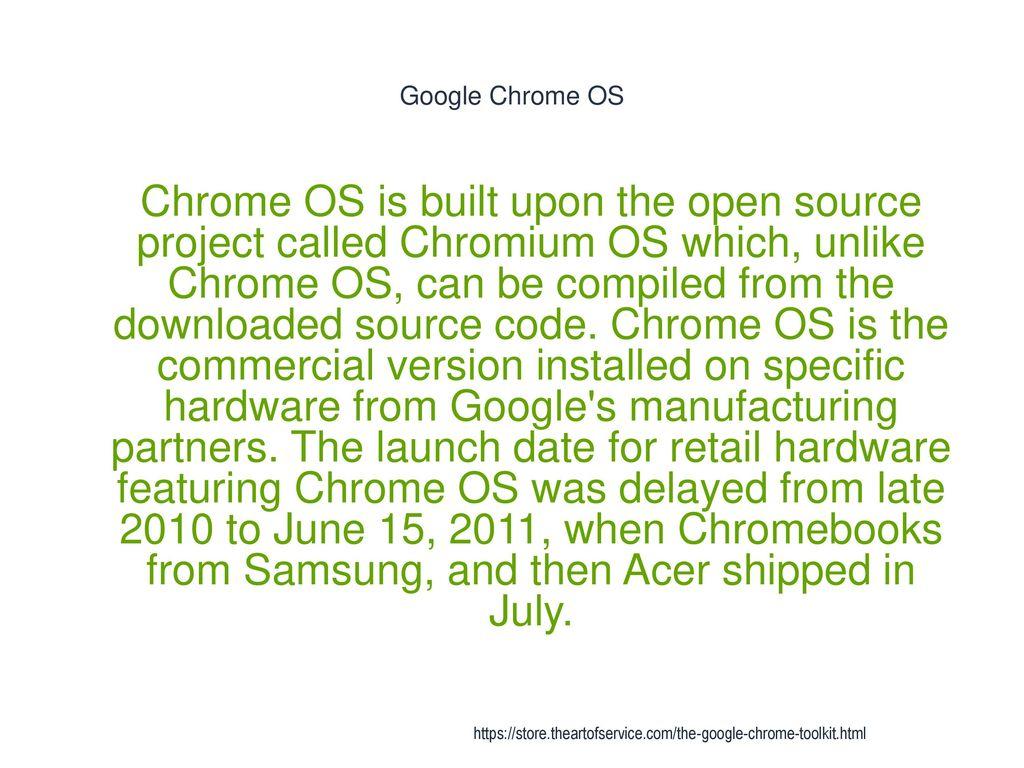 installé google chromium os