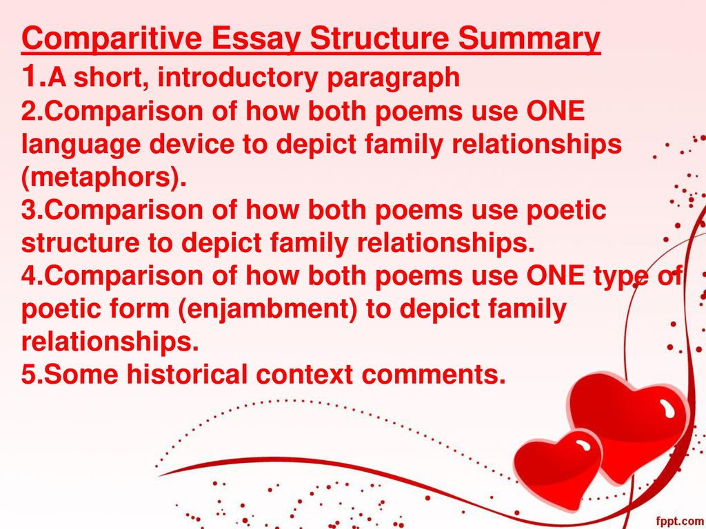 love and relationships aqa grade course by geraldine rose  comparitive essay structure summary 1