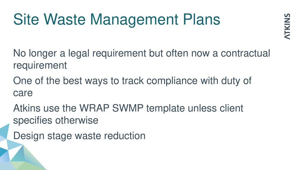 Duty of care practical tips from engineering projects for Waste management plans template