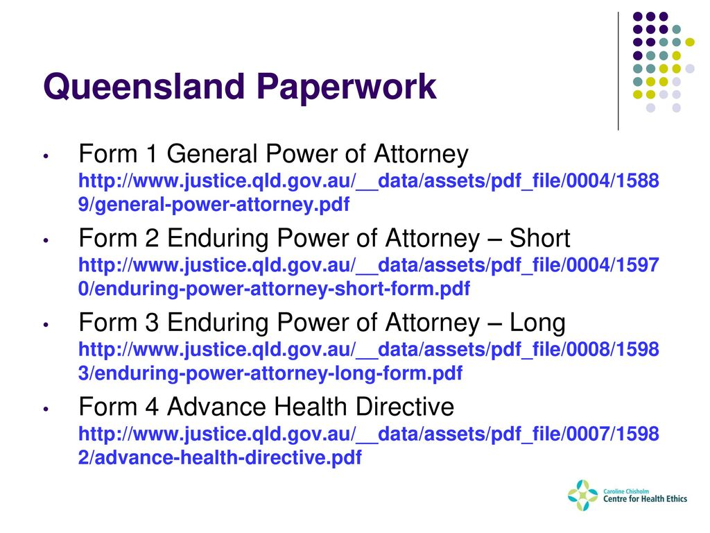 Queensland power of attorney form gallery standard form examples applied ethics rev kevin mcgovern ppt download 35 queensland paperwork form 1 general power of attorney falaconquin