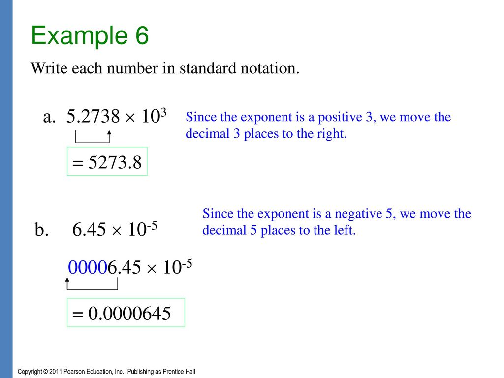 Exponents polynomials and polynomial functions ppt download example 6 write each number in standard notation a 52738 103 since falaconquin